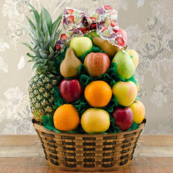 Simply Fruit Basket from Brennan's Florist and Fine Gifts in Jersey City