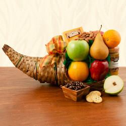 Cornucopia Fruit Basket from Brennan's Florist and Fine Gifts in Jersey City