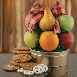 Fruit & Cookie Deluxe Fruit Basket from Brennan's Florist and Fine Gifts in Jersey City