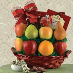 Season's GreetingsFruit Gift Basket from Brennan's Florist and Fine Gifts in Jersey City