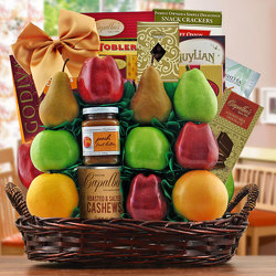 Masada Fruit & Kosher Gift Basket from Brennan's Florist and Fine Gifts in Jersey City