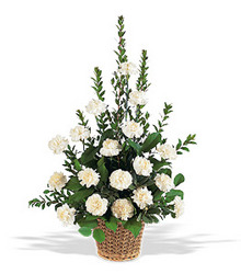 White Simplicity Basket from Brennan's Florist and Fine Gifts in Jersey City
