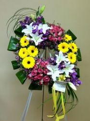 Cluster Wreath from Brennan's Florist and Fine Gifts in Jersey City
