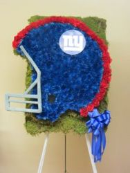 NEW YORK GIANTS HELMET CUSTOM DESIGN from Brennan's Florist and Fine Gifts in Jersey City
