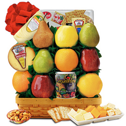 Fruit & Cheese Deluxe Fruit Basket from Brennan's Florist and Fine Gifts in Jersey City