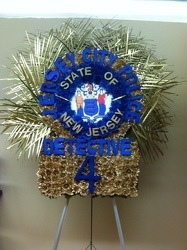 Jersey City Police Detective Sheild Custom Design from Brennan's Florist and Fine Gifts in Jersey City