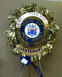 J.C.P.D LIEUTENT POLICE SHEILD from Brennan's Florist and Fine Gifts in Jersey City