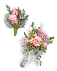 Glossy Corsage and Boutonniere Set from Brennan's Florist and Fine Gifts in Jersey City
