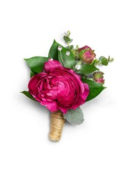 Allure Boutonniere from Brennan's Florist and Fine Gifts in Jersey City