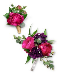 Allure Corsage and Boutonniere Set from Brennan's Florist and Fine Gifts in Jersey City
