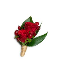 Crimson Boutonniere from Brennan's Florist and Fine Gifts in Jersey City