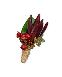Organic Boutonniere from Brennan's Florist and Fine Gifts in Jersey City