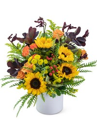 Overflowing with Sunshine from Brennan's Florist and Fine Gifts in Jersey City