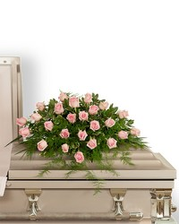 Pink Tranquility Casket Spray from Brennan's Florist and Fine Gifts in Jersey City