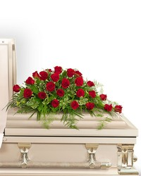 24 Red Roses Casket Spray from Brennan's Florist and Fine Gifts in Jersey City