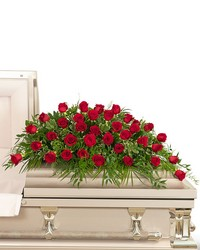 36 Red Roses Casket Spray from Brennan's Florist and Fine Gifts in Jersey City