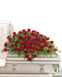 50 Red Roses Casket Spray from Brennan's Florist and Fine Gifts in Jersey City