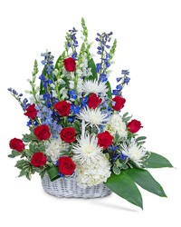 Freedom Tribute Basket from Brennan's Florist and Fine Gifts in Jersey City