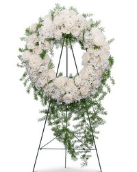 Eternal Peace Wreath from Brennan's Florist and Fine Gifts in Jersey City