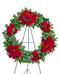 Serene Sanctuary Wreath from Brennan's Florist and Fine Gifts in Jersey City