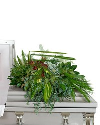 Beloved Botanics Casket Spray from Brennan's Florist and Fine Gifts in Jersey City