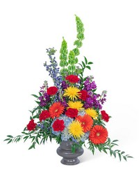 Vibrant Urn from Brennan's Florist and Fine Gifts in Jersey City