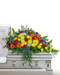 Vibrant Life Casket Spray from Brennan's Florist and Fine Gifts in Jersey City
