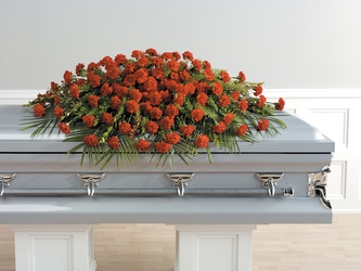 Heartfelt Carnations Casket Spray from Brennan's Florist and Fine Gifts in Jersey City