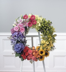 Garden Wreath from Brennan's Florist and Fine Gifts in Jersey City
