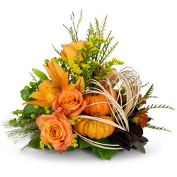 Abundant Cornucopia from Brennan's Florist and Fine Gifts in Jersey City