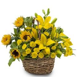 Basket of Sunshine from Brennan's Florist and Fine Gifts in Jersey City