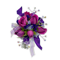 Royal Purple Wrist Corsage from Brennan's Florist and Fine Gifts in Jersey City