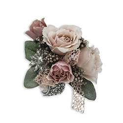 Victorian Blush Wrist Corsage from Brennan's Florist and Fine Gifts in Jersey City
