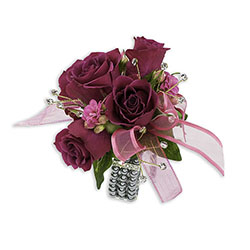 Fuchsia Wrist Corsage from Brennan's Florist and Fine Gifts in Jersey City