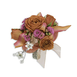 Sherbet Wrist Corsage from Brennan's Florist and Fine Gifts in Jersey City