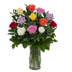 Dozen Roses - Mix it up! from Brennan's Florist and Fine Gifts in Jersey City