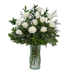 White Rose Elegance from Brennan's Florist and Fine Gifts in Jersey City