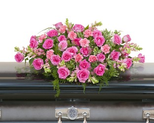 Peaceful Pink Casket Spray from Brennan's Florist and Fine Gifts in Jersey City