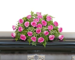 Pink Rose Casket Spray from Brennan's Florist and Fine Gifts in Jersey City