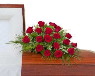 Simply Roses Casket Spray from Brennan's Florist and Fine Gifts in Jersey City