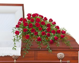 Simply Roses Deluxe Casket Spray from Brennan's Florist and Fine Gifts in Jersey City