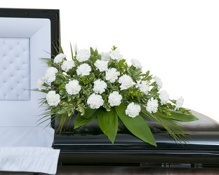 Simple Love Casket Spray from Brennan's Florist and Fine Gifts in Jersey City
