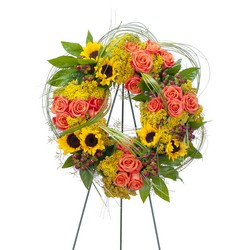 Heaven's Sunset Wreath from Brennan's Florist and Fine Gifts in Jersey City