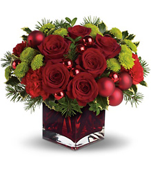 Teleflora's Merry & Bright from Brennan's Florist and Fine Gifts in Jersey City