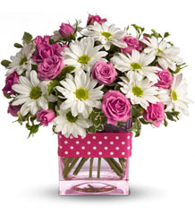 Teleflora's Polka Dots and Posies from Brennan's Florist and Fine Gifts in Jersey City